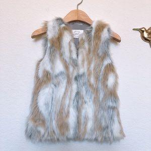Zara Girl Fur Vest 5-6y
